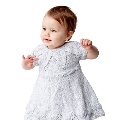9f82f61a610e Fairy Leaves Dress Free Baby Knitting Pattern
