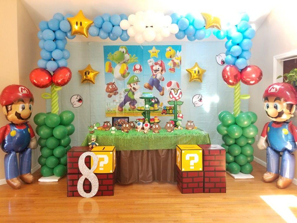 Alejandro Decoracion De Mario Bros Fiesta De Mario Bros Fiesta De Cumpleaños De Mario