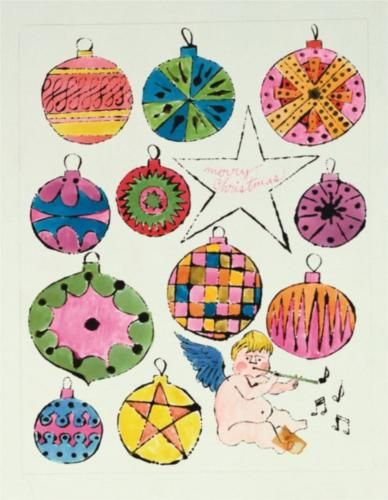 Fairy and Christmas Ornaments - Andy Warhol, 1955