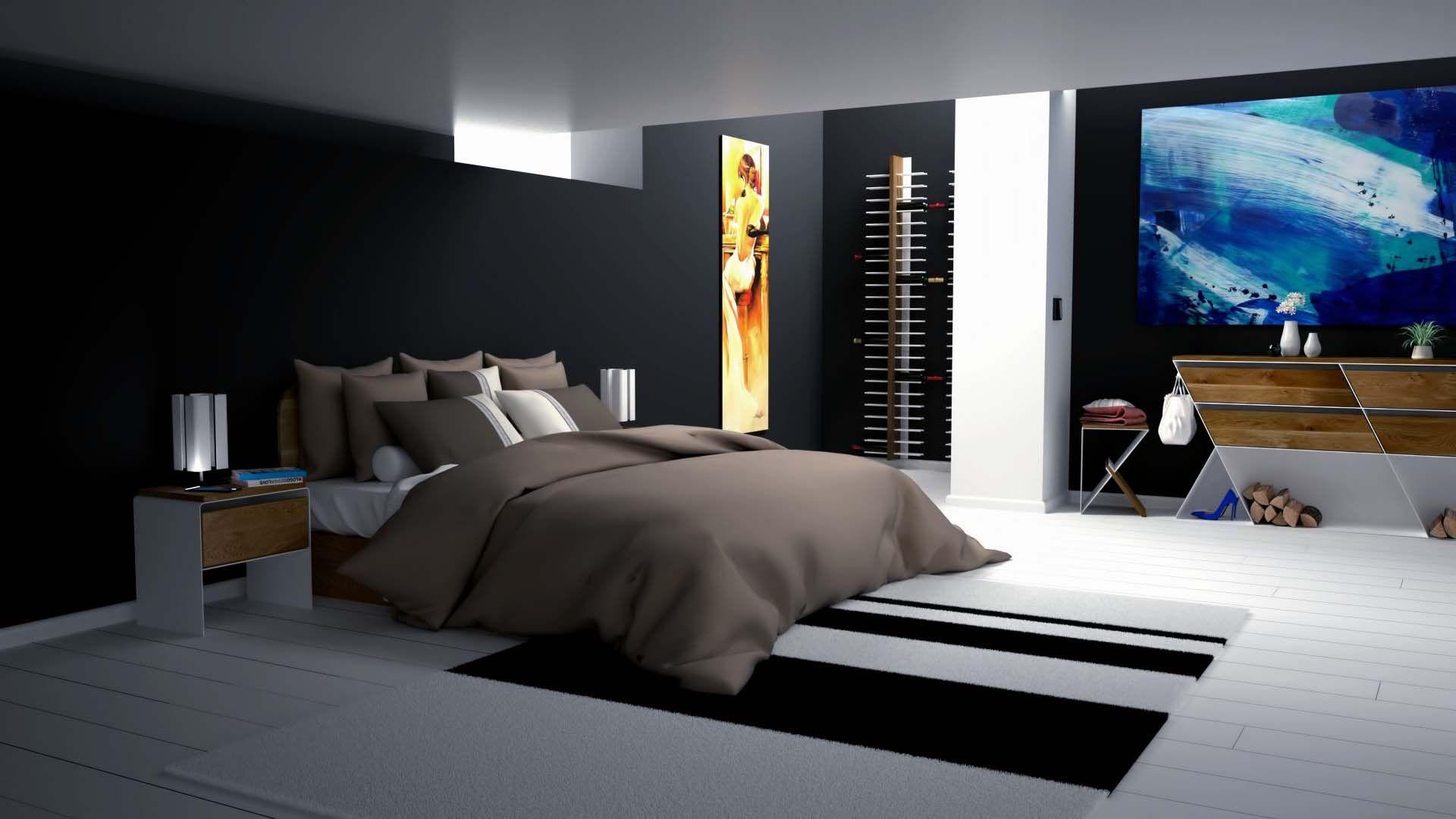 Nachttisch Weiß Metall ~ Design nachttisch modern weiss schwarz holz metall mystery manhattan