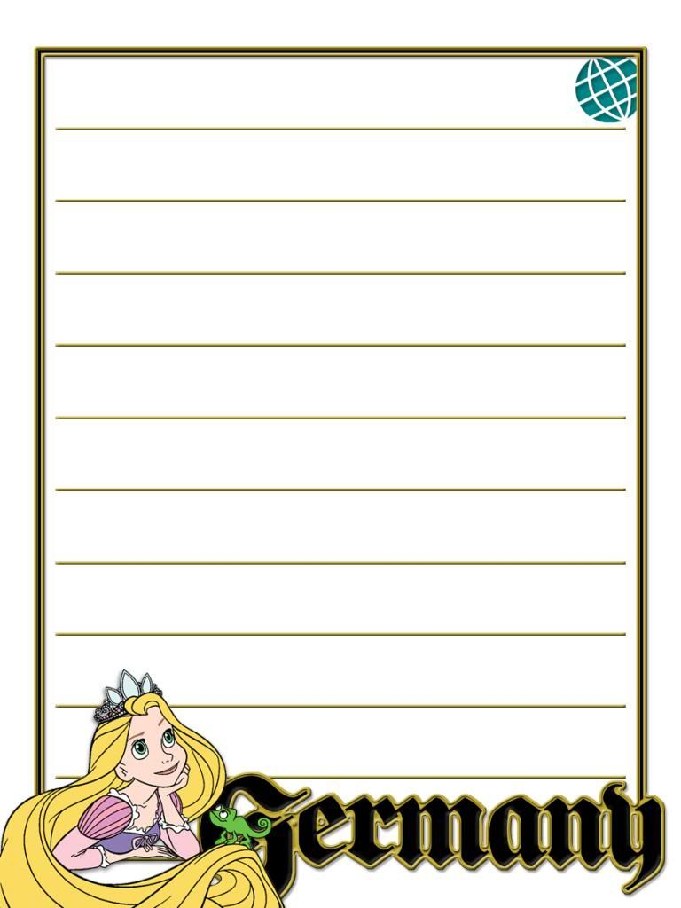 Journal Card - EPCOT - Germany - Rapunzel - lines - 3x4 photo by pixiesprite