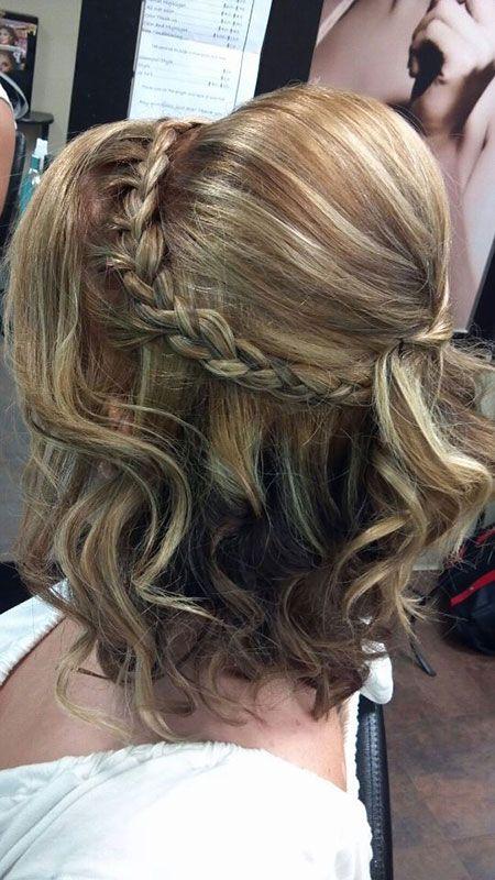 25 peinados de graduación para cabello corto – peinado simple
