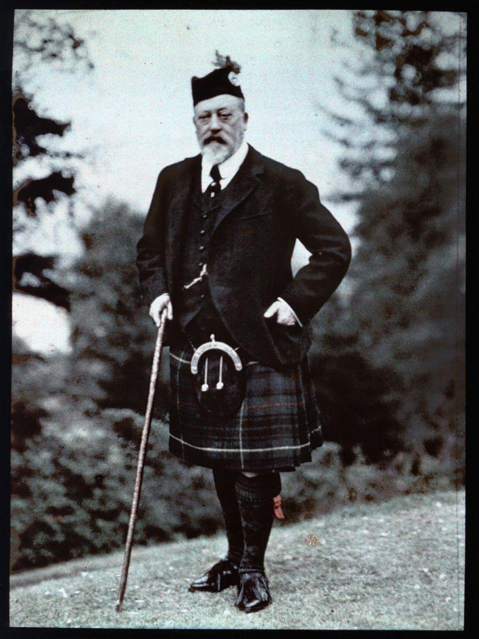 King Edward VII, Strathspey, September 1909. by Rothschild