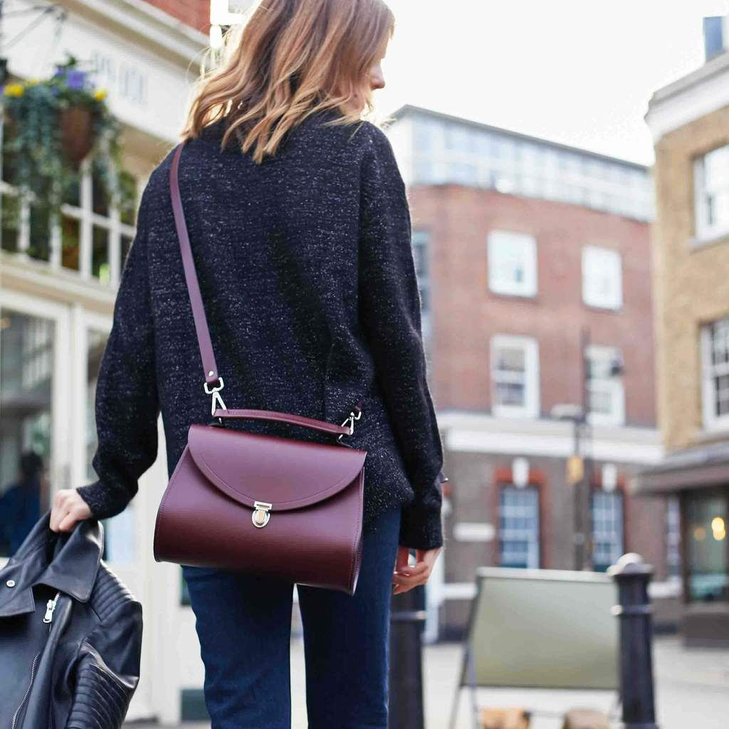 Photo of Poppy Bag in Leather – Oxblood