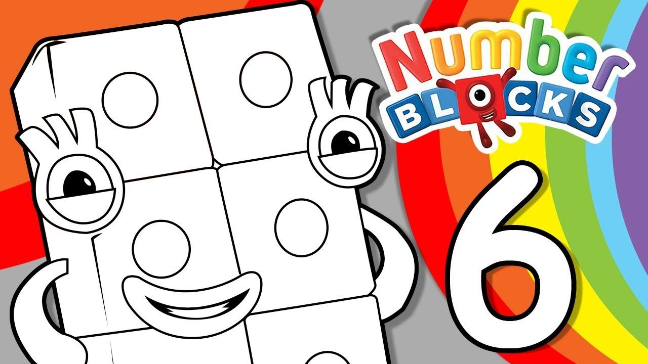 Numberblocks Learn To Count Learn Colors Number Six Counting Lesson Coloring Pages Learning Colors Coloring Pages Learn To Count