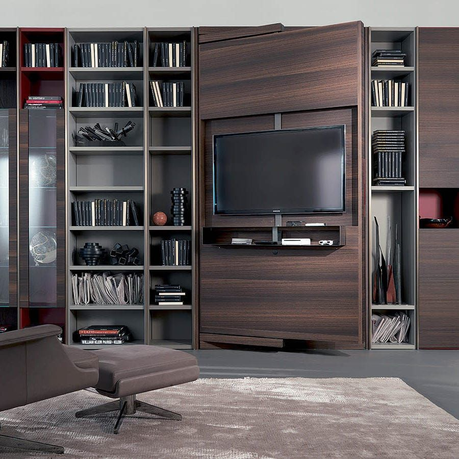 moderne tv wandhalterung schwenkbar lackiertes holz revo over fimar srl tv wand. Black Bedroom Furniture Sets. Home Design Ideas