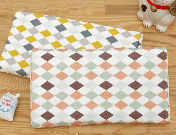 Argyle Check Pattern 40s Cotton Interlock Knit by ...