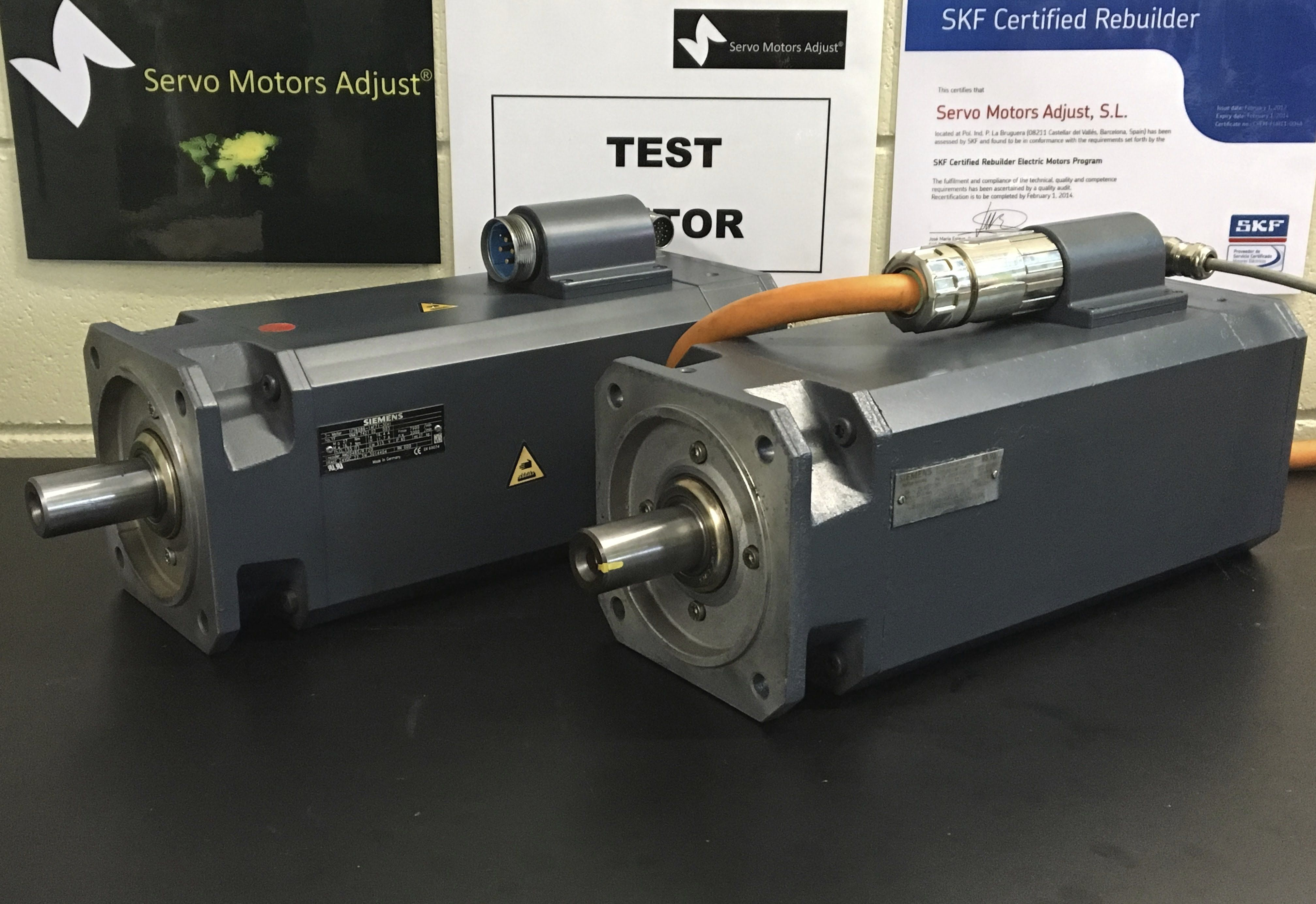 Siemens Type.1FT6086-1AF71-3EH servo motor test - SERVO MOTORS ADJUST®-