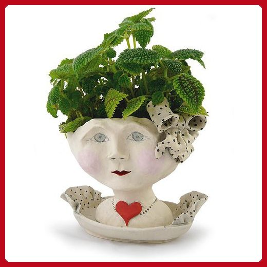 Victorian Lovelies Sculpted Indoor Head Planter: Debutante Version - Lets plant (*Amazon Partner-Link)