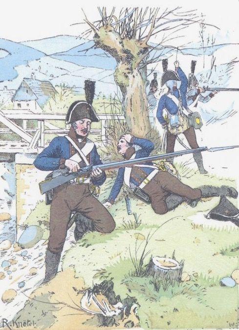 Granatieri del battaglione prussiano von losthin