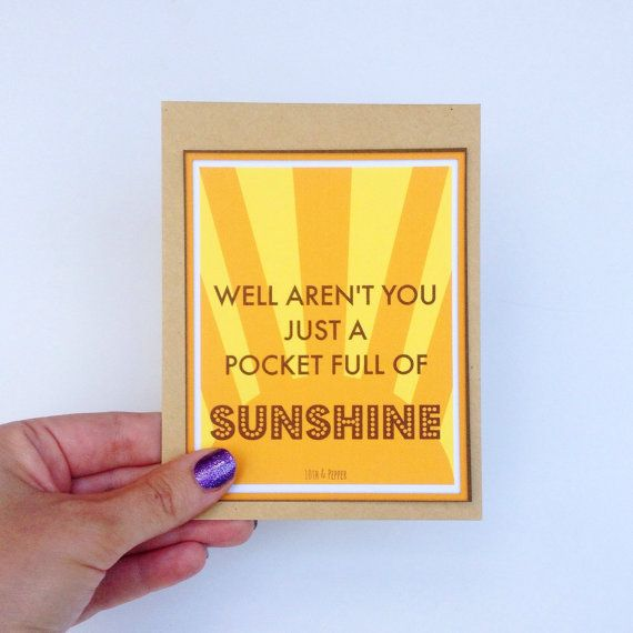 Pocket full of sunshine snarky card sarcastic card funny card pocket full of sunshine snarky card sarcastic card funny card funny birthday card fathers day card funny fathers day card on etsy 400 m4hsunfo