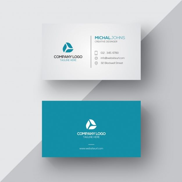 Blue And White Business Card Inspiration Design De