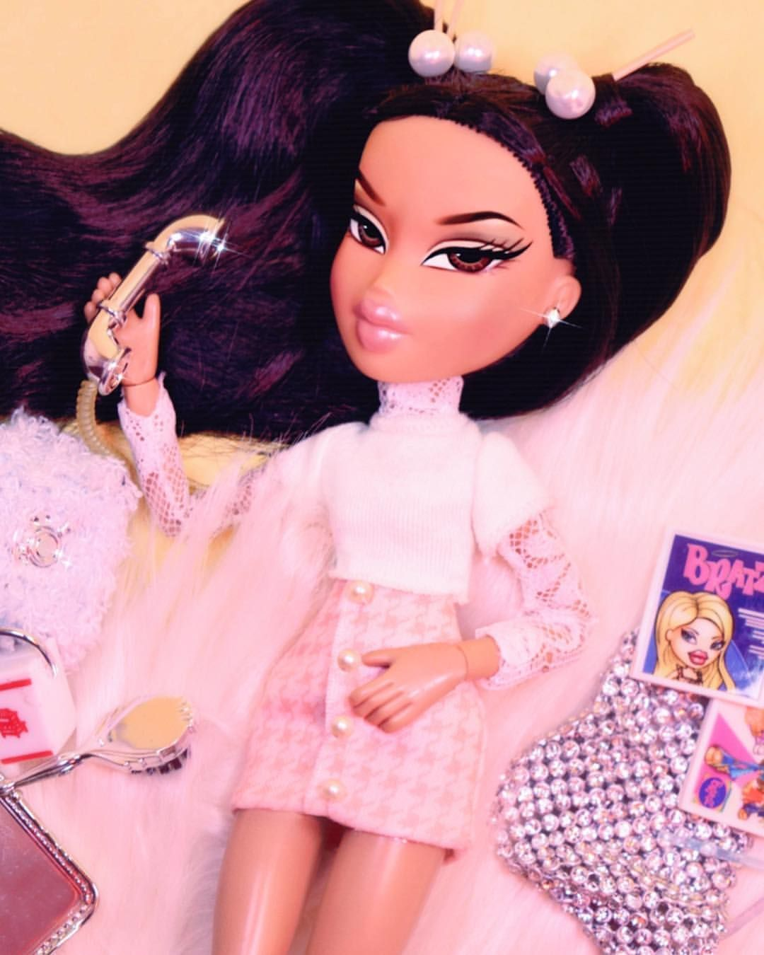 Level Up On Instagram T T Talk To Me Bratz A Realwhores Collab 2 0 Moment Go Check Out Their P Bratz Doll Outfits Black Bratz Doll Bratz Doll