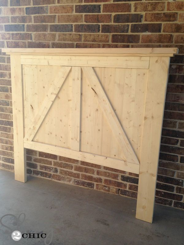 DIY Barn Door Headboard | Barn door headboards, Door headboards and ...