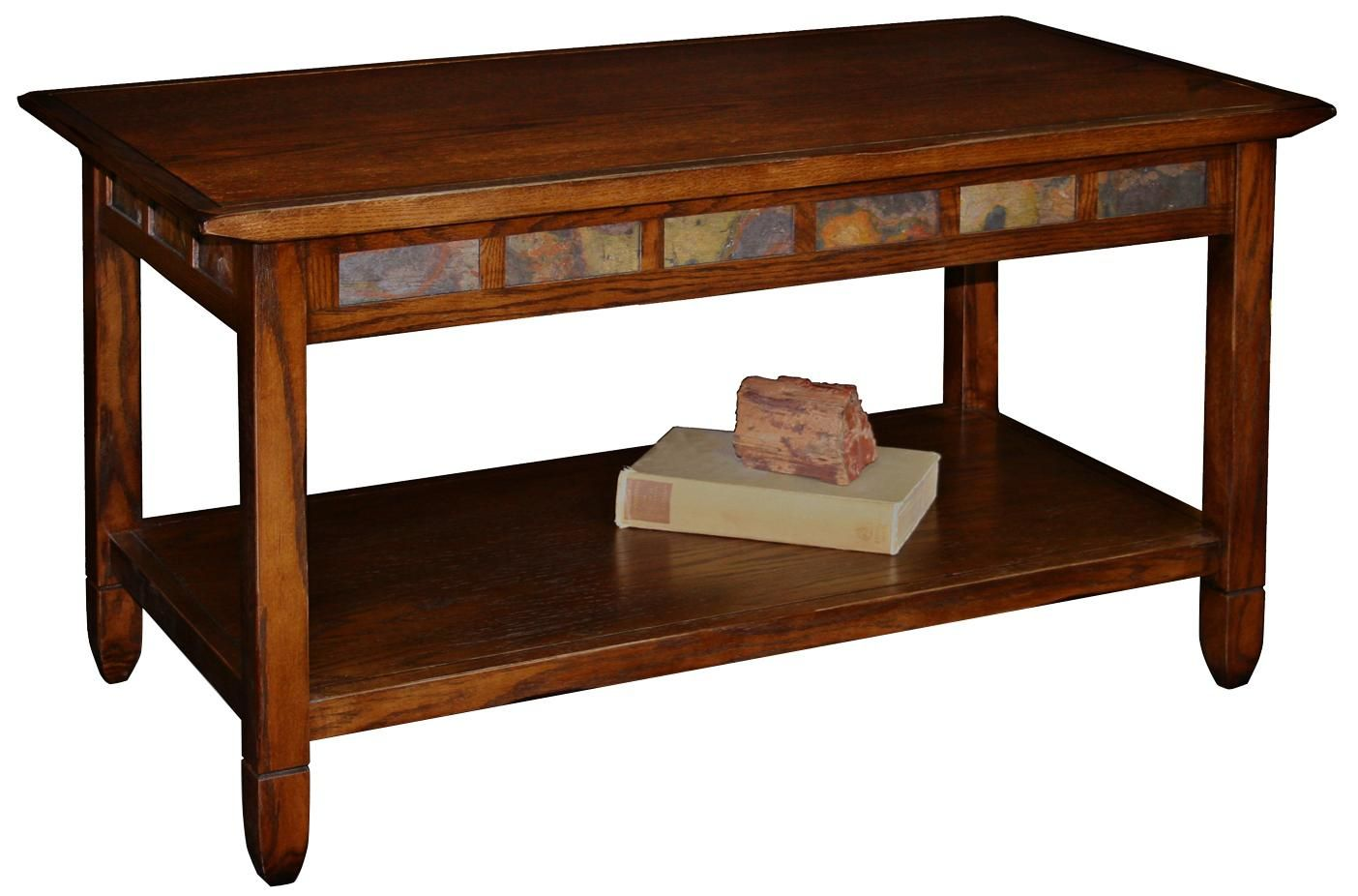 Rustic Oak And Slate Rectangle Coffee Table X8379 Lamps Plus Coffee Table Rectangle Coffee Table Slate Coffee Table [ 926 x 1404 Pixel ]