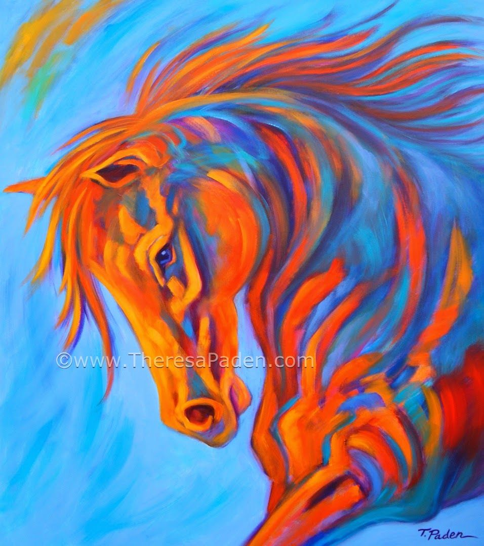 Abstract Horse Paintings