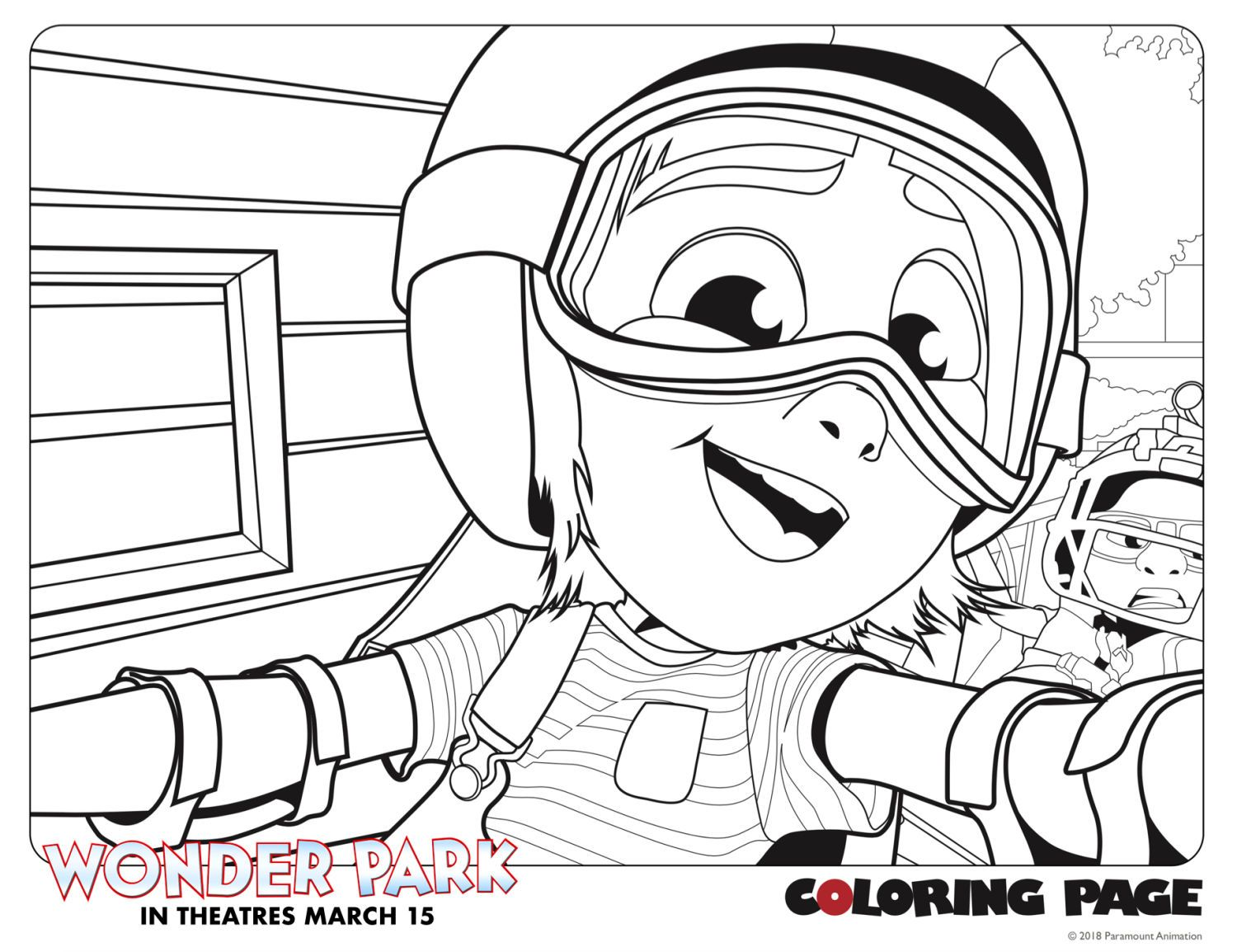 Wonder Park review plus activity sheets Coloring pages