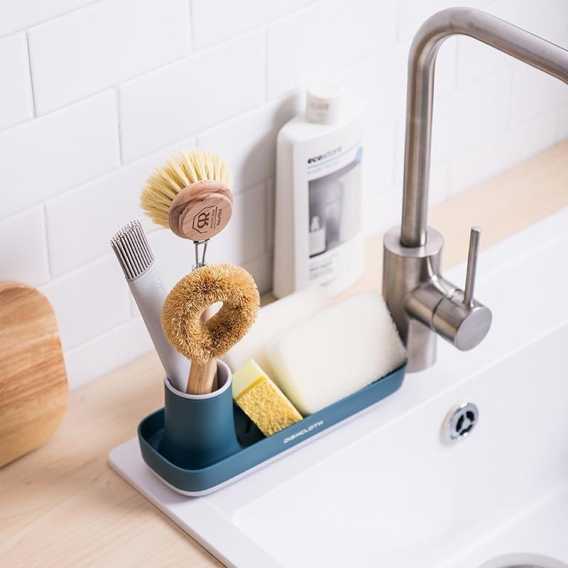 Sponge Caddy In 2021 Kitchen Sink Organization Sponge Holder Sink Organizer
