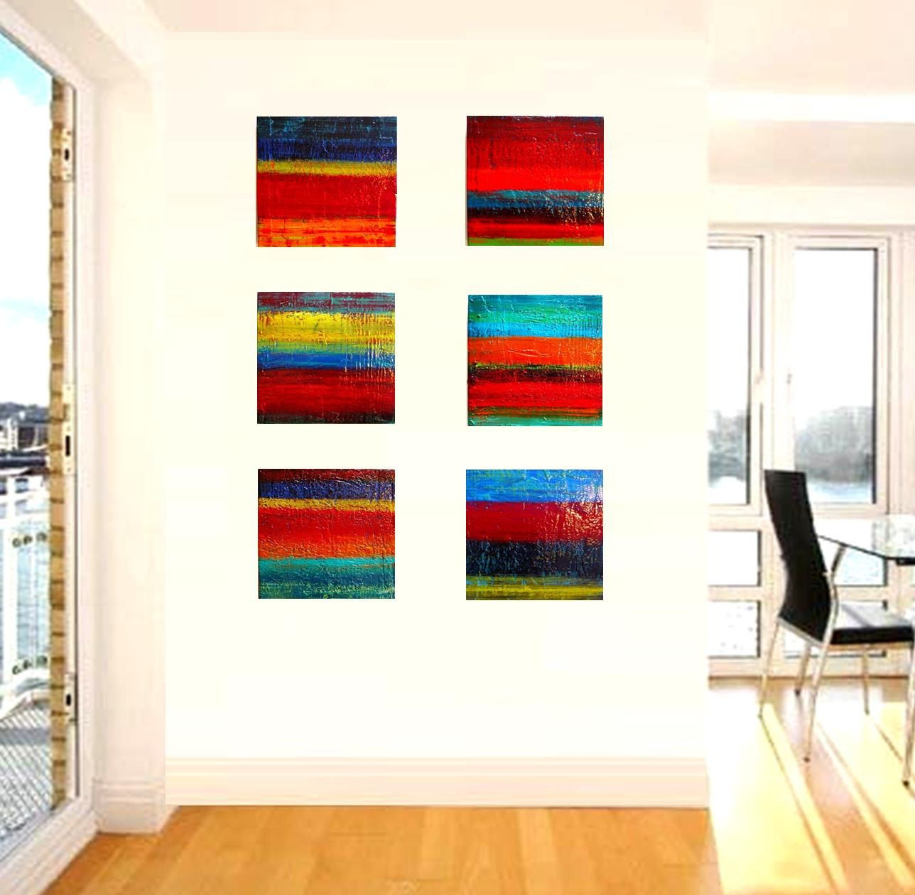 Sale and ready to ship abstract colorful original wall