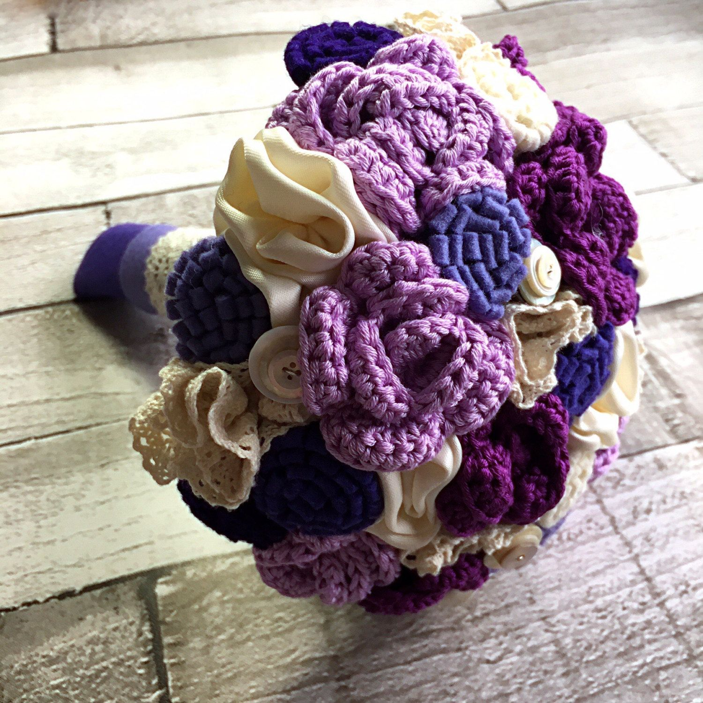 Pink bouquet Crochet bouquet wedding bouquet by TinyandToad