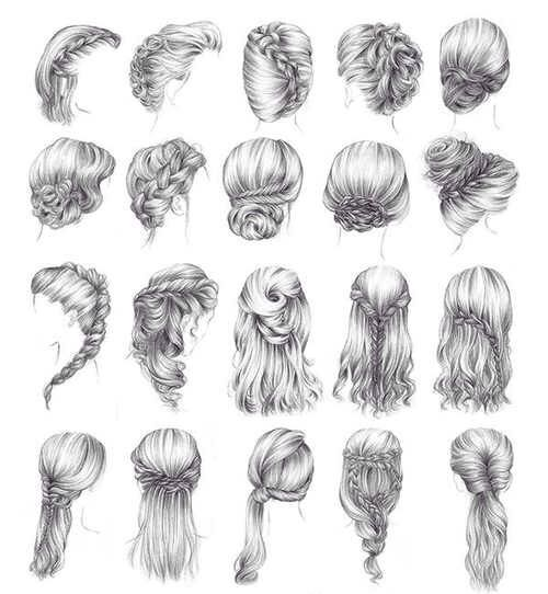 Hairstyle Reference Drawing Hair Styles Long Hair Styles How