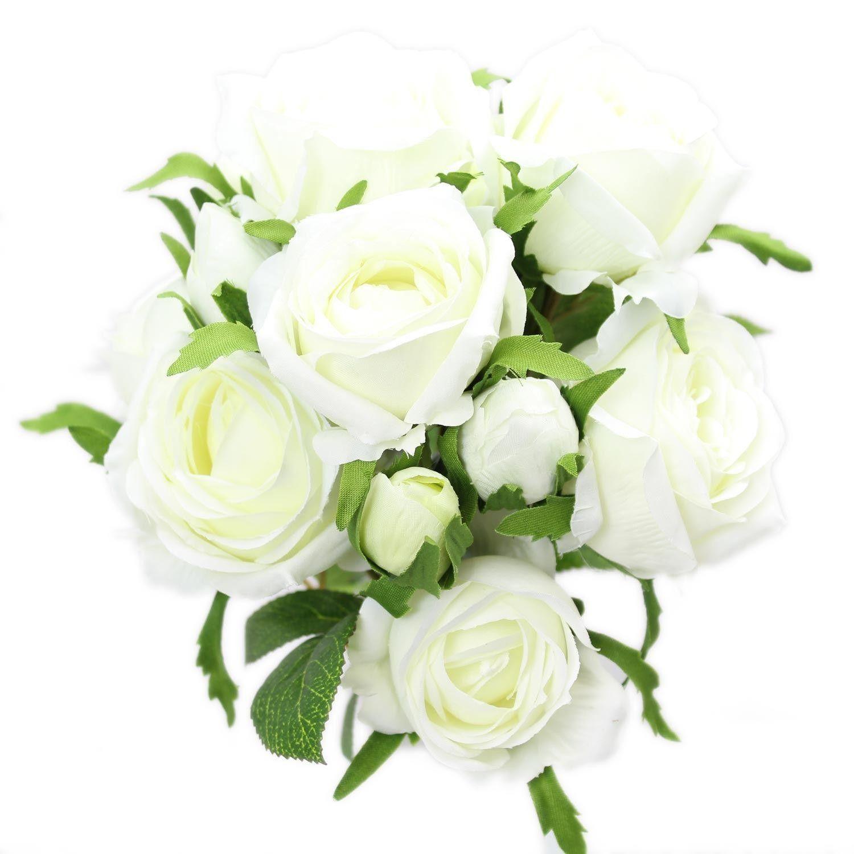Beautiful 3 Head Rose Spray Artificial Flower Bouquet