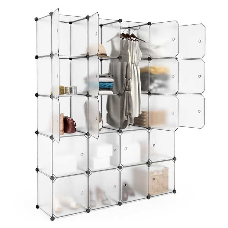 LANGRIA Plastic Storage Cubes Drawer for Clothes, Shoes, and
