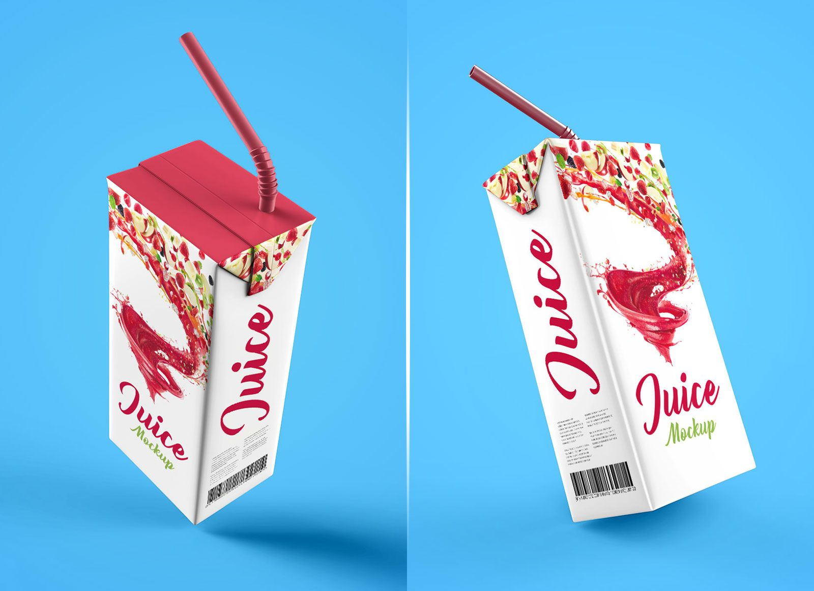 Download Free Juice Box Packaging Mockup Psd Set Packaging Mockup Box Packaging Juice Boxes