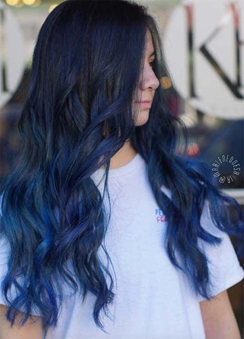Image Result For Blue Hair Blue Ombre Hair Denim Hair Denim