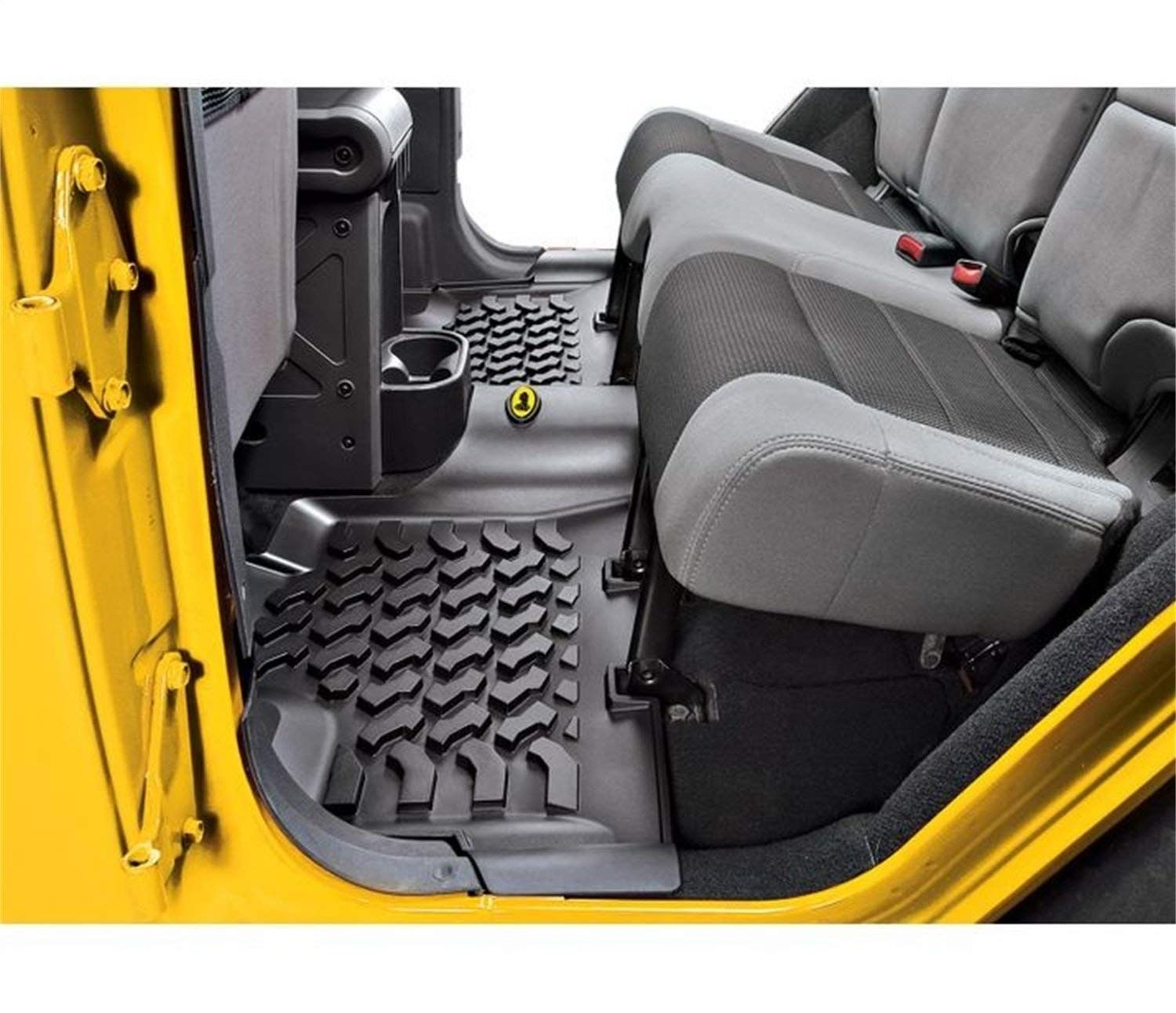 Grey Husky Liners Classic Style Custom Fit Molded Front Floor Liner for Select Jeep Wrangler TJ Models