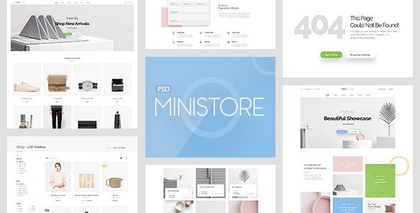 Mini Store - Accessories Store PSD Template - http://themekeeper.com ...