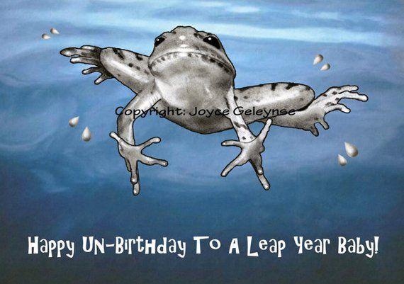 Leap Year Birthday Card Female