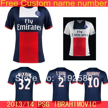... PSG jersey 201314 Paris Saint Germain Beckham football jersey shorts kits  Ibrahimovic Cavani Lucas 2013-2014 ... 8eab44de7