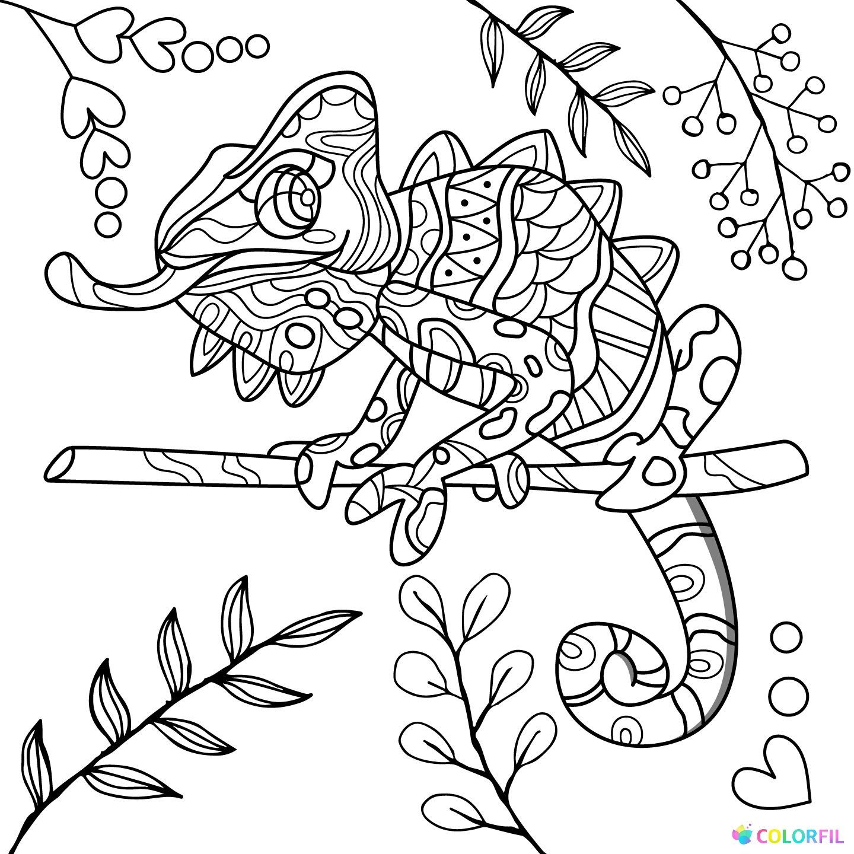 Pin de Barbara en coloring reptile | Pinterest