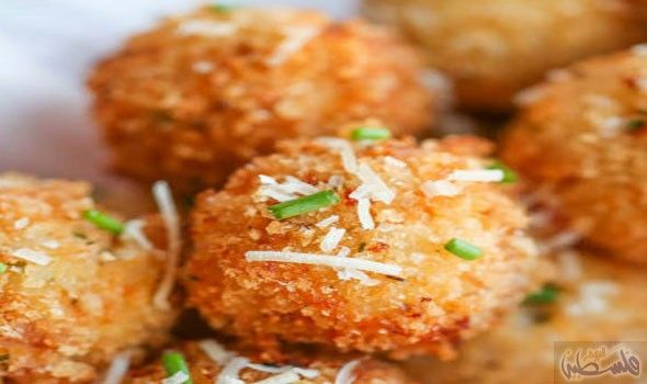 طريقة عمل مقبلات كرات البطاطس المحشوة Mashed Potato Balls Stuffed Potato Balls Loaded Mashed Potato Balls
