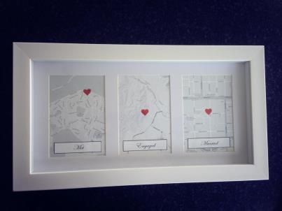 Love this idea for st wedding anniversary present met engaged