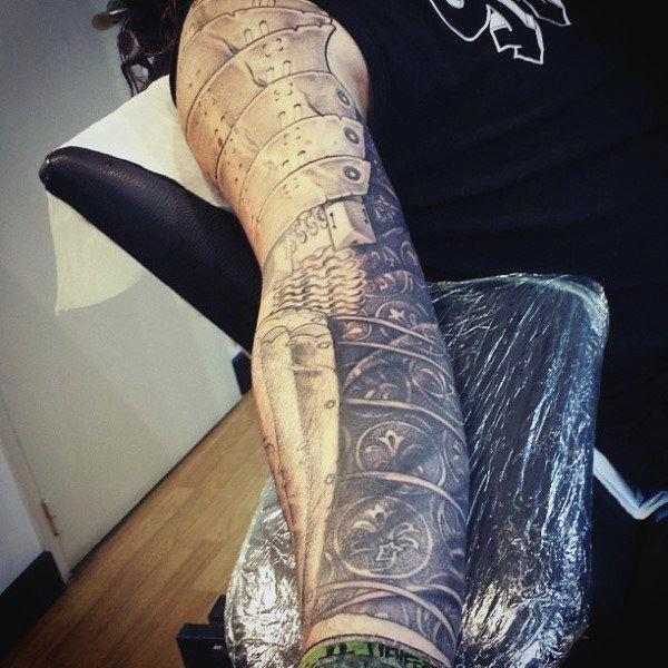 Amor Sleeve Mens Tattoos #bestmenstattoos #Polynesiantattoos
