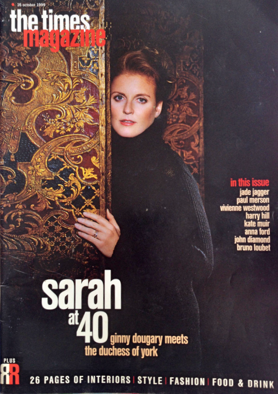 SARAH FERGUSON RARE PHOTO COVER SUNDAY TIMES MAGAZINE 1999