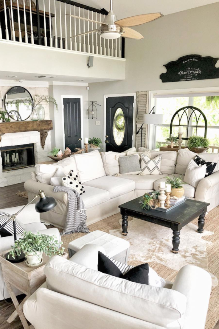Living Room Inspiration Ideas For A Sectional Couch White