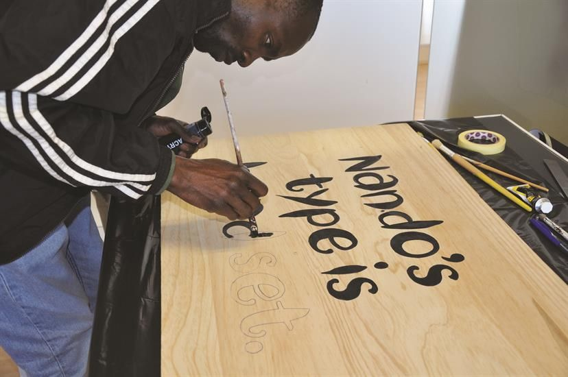 Artist Mark Salimu has created the new font - I love the food and love the font