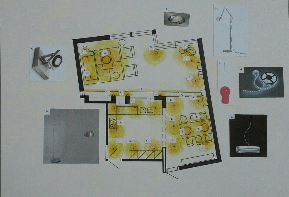 Verlichtingsplan woonkamer   moodboards en collages   Pinterest