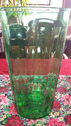 Yes..have ...large green depression vase.. and it glows too