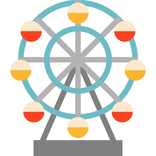 Ferris Wheel Free Vector Icons Designed By Mynamepong Ferris Wheel Wheel Art Easy Toddler Crafts