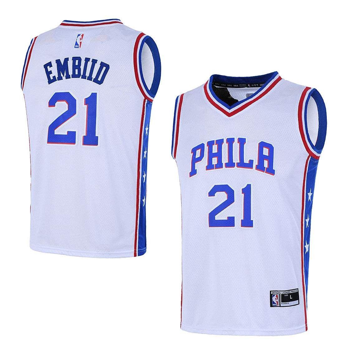 Youth 820 Philadelphia 76ers 21 Joel Embiid Jersey
