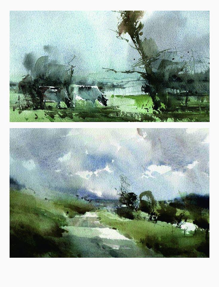 Chris Robinson Uk Watercolour Watercolor Landscape