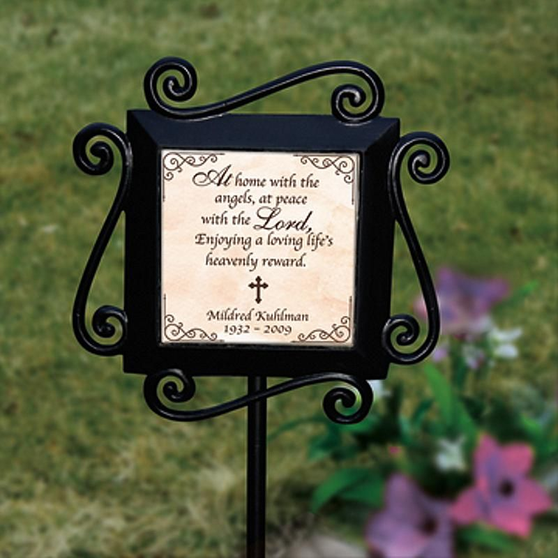 Attractive Send Garden Remembrance Stake And Other Personalized Gifts At Personal  Creations.