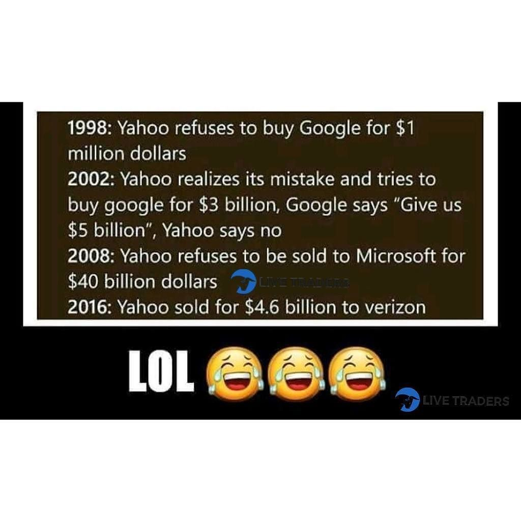 Whenever You Feel Like You Ve Made A Lot Of Mistakes In Life Remember That You Re Still Better Than Yahoo How Are You Feeling Business Motivation Stock Market