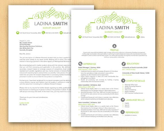 lime green calligraphy swirls microsoft word resume by