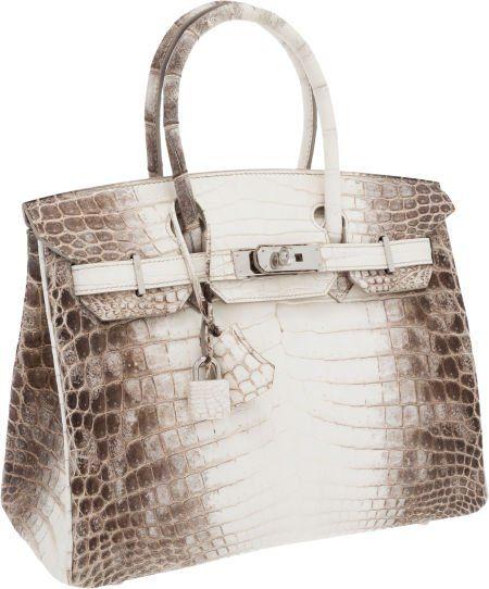 Hermes Ultra Rare 30cm Matte White Himalayan Crocodile Birkin Bag with Palladium  Hardware ... this bag is just beautiful! 75c69bb3af625