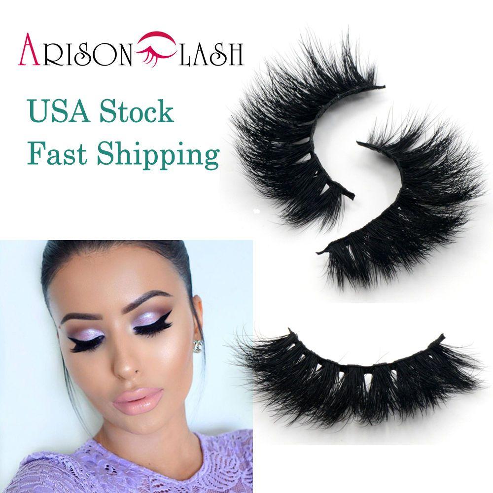 Arison 100% Mink Natural Thick False Fake Eyelashes Eye